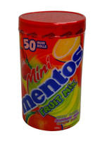 Mentos Mini Rolls - Fruit Mix, by Perfetti Van Melle,  and more Confectionery at The Professors Online Lolly Shop. (Image Number :10891)