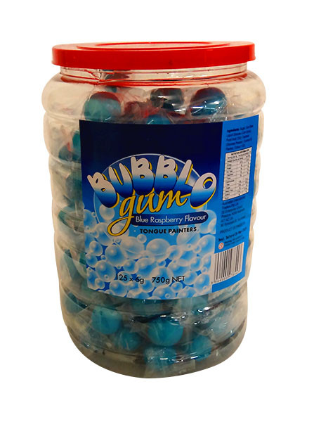Bubblo Gum Jar Blue And Other Confectionery At