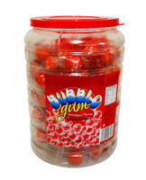 Bubble O Gum Jar - Red (125 piece tub)