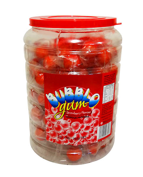 BubblO Gum Jar - Red and more Confectionery at The Professors Online Lolly Shop. (Image Number :10381)