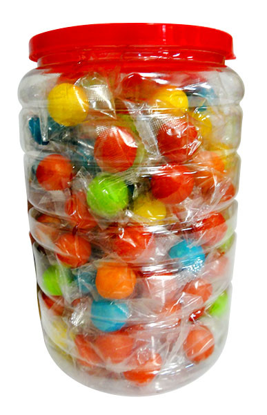 BubblO Gum Jar - Rainbow and more Confectionery at The Professors Online Lolly Shop. (Image Number :11316)