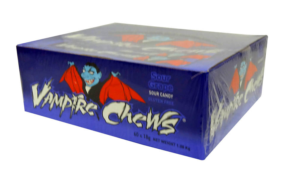 Vampire Chews - Sour Grape, by AIT Confectionery,  and more Confectionery at The Professors Online Lolly Shop. (Image Number :10457)