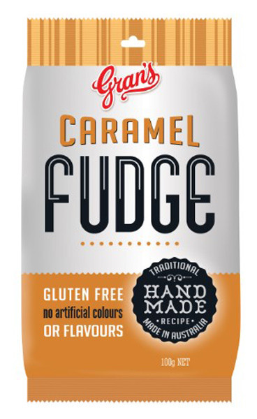 Gran s Hang Sell Bag - Caramel Fudge, by Grans,  and more Confectionery at The Professors Online Lolly Shop. (Image Number :10288)