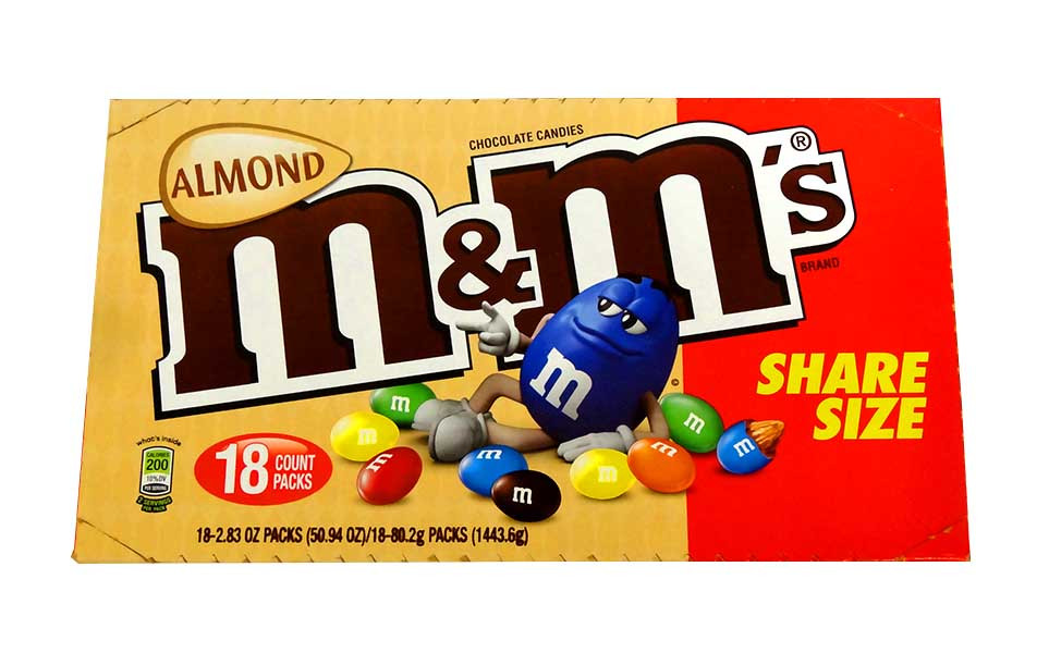 M&M Almond share size, by Mars,  and more Confectionery at The Professors Online Lolly Shop. (Image Number :10667)