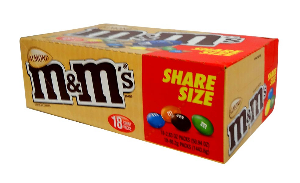 M&M Almond share size, by Mars,  and more Confectionery at The Professors Online Lolly Shop. (Image Number :10669)