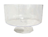 Clear Plastic Candy Buffet Trifle Jar - Small  (11cm tall - approx 1L)