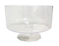 Clear Plastic Candy Buffet Trifle Jar - Small  (11cm tall - approx 1L)