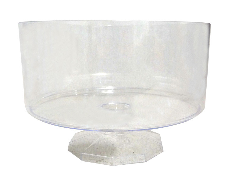 Clear Plastic Candy Buffet Trifle Jar - Small and more Partyware at The Professors Online Lolly Shop. (Image Number :10548)