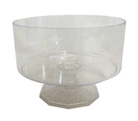 Clear Plastic Candy Buffet Trifle Jar - Medium (13cm tall - approx 2L)