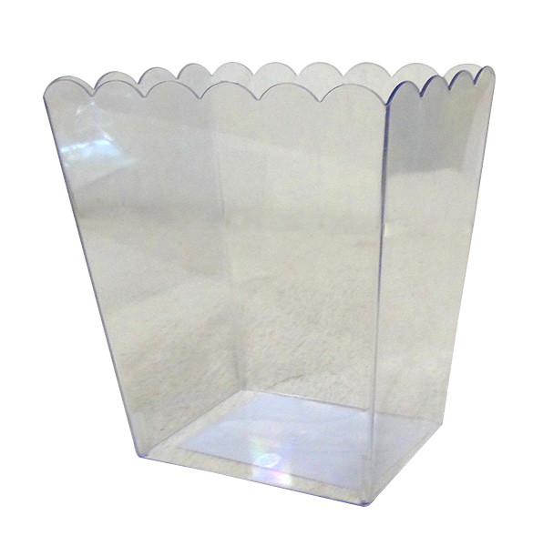 Clear Plastic Candy Buffet Scalloped Jar - Medium and more Partyware at The Professors Online Lolly Shop. (Image Number :10546)