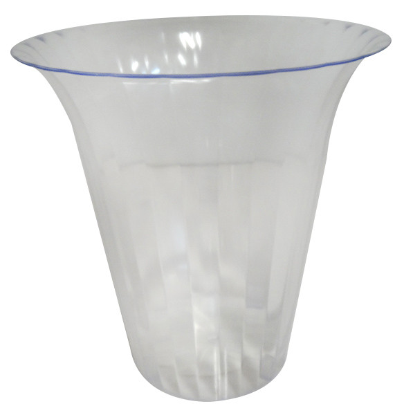 Clear Plastic Candy Buffet Flared Cylinder - Large and more Partyware at The Professors Online Lolly Shop. (Image Number :11745)