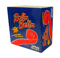 Vidal Rolla Belts - Strawberry (24 belts x 19g in a display unit)