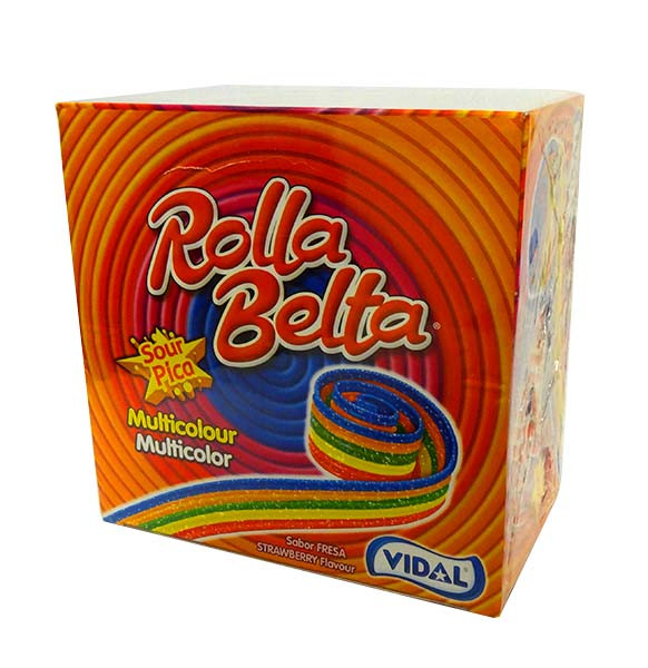 Vidal Rolla Belts - Rainbow, by vidal,  and more Confectionery at The Professors Online Lolly Shop. (Image Number :10682)