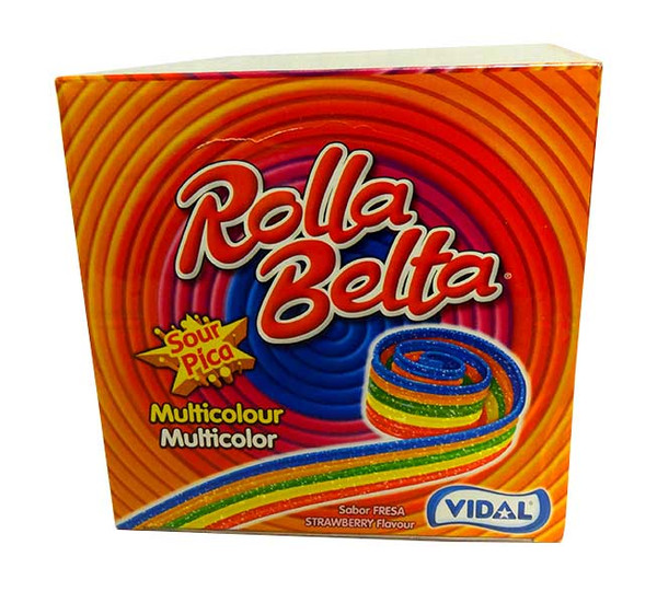 Vidal Rolla Belts - Rainbow, by vidal,  and more Confectionery at The Professors Online Lolly Shop. (Image Number :10683)