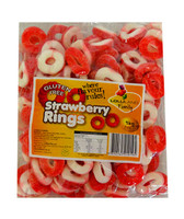 Lolliland Strawberry Rings, by Lolliland,  and more Confectionery at The Professors Online Lolly Shop. (Image Number :10724)