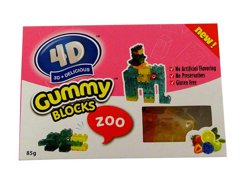 4D Gummy Blocks Box and more Confectionery at The Professors Online Lolly Shop. (Image Number :10531)