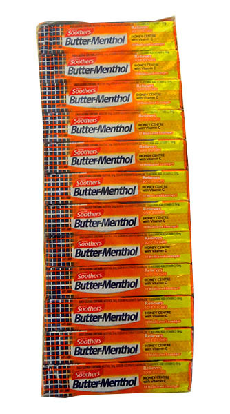 Butter Menthol - Honey Centre, by Nestle,  and more Confectionery at The Professors Online Lolly Shop. (Image Number :10536)