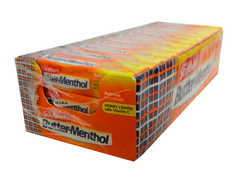 Butter Menthol - Honey Centre, by Nestle,  and more Confectionery at The Professors Online Lolly Shop. (Image Number :10537)