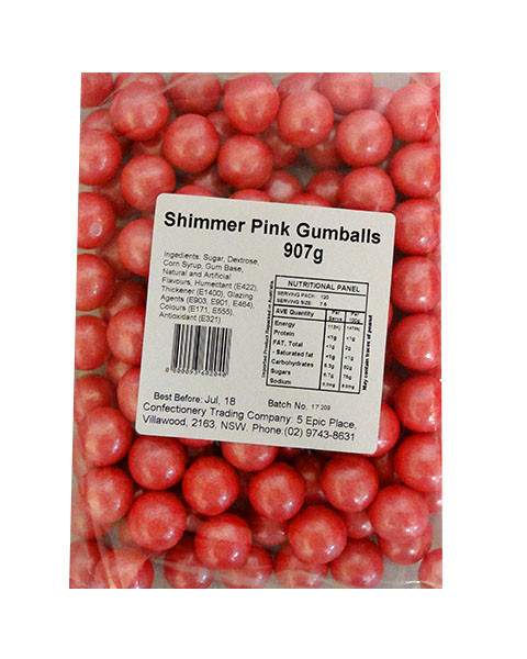 Gumballs - Shimmer Light Pink, by Oak Leaf Confections,  and more Confectionery at The Professors Online Lolly Shop. (Image Number :10552)