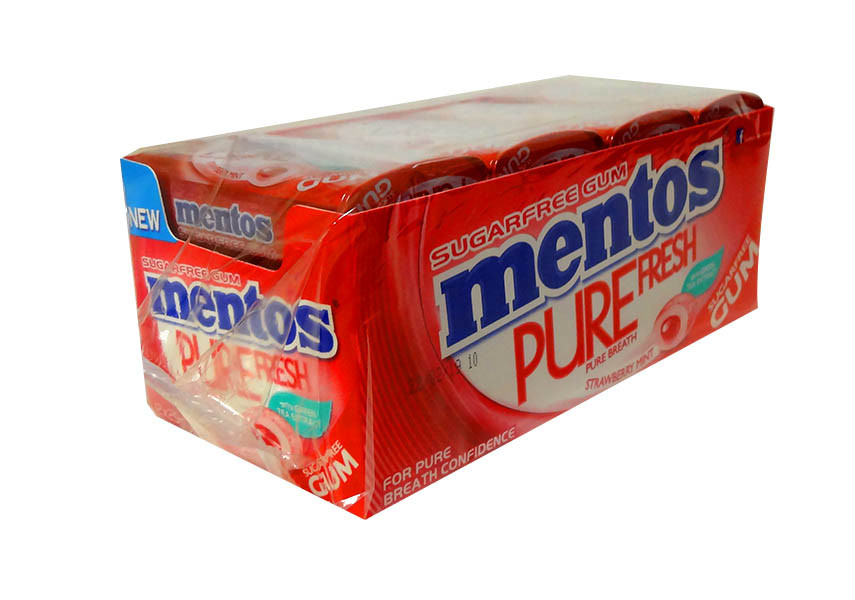 Mentos Sugar Free Gum - Pure Fresh - Strawberry Mint, by Perfetti Van Melle,  and more Confectionery at The Professors Online Lolly Shop. (Image Number :10564)