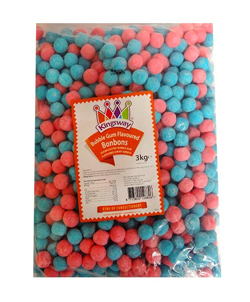 Bon Bons Bubblegum, by Kingsway,  and more Confectionery at The Professors Online Lolly Shop. (Image Number :10824)