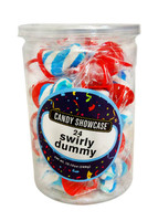 Candy showcase Mini Dummy Pop - Blue and White (24 x  12g pops in a tub)