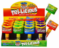 TNT Mega Sour Tri-licious - Candy Spray + Sherbet + Hard Candy  (45g x 12pc display unit)