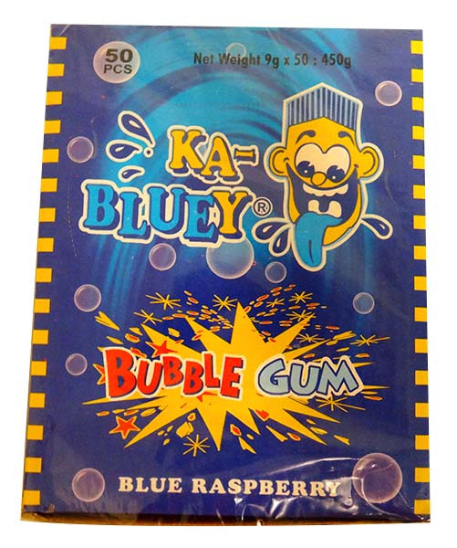 Ka-Bluey Bubble Gum Stick Bars - Blue Raspberry, by AIT Confectionery,  and more Confectionery at The Professors Online Lolly Shop. (Image Number :13980)