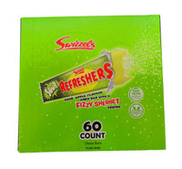 Swizzels Refreshers - Sour Apple Fizzy Sherbet Chew Bars, by Swizzles Matlow,  and more Confectionery at The Professors Online Lolly Shop. (Image Number :10736)