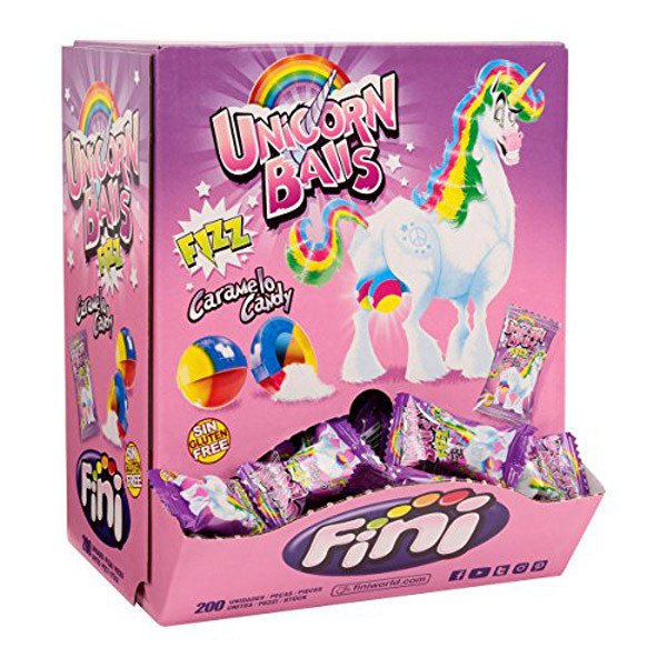 Fini Unicorn Balls, by Fini,  and more Confectionery at The Professors Online Lolly Shop. (Image Number :10666)