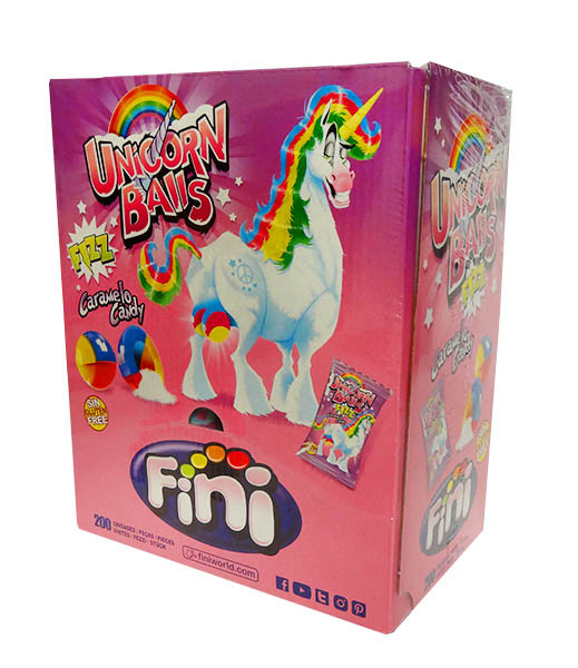Fini Unicorn Balls, by Fini,  and more Confectionery at The Professors Online Lolly Shop. (Image Number :10712)