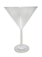 Clear Plastic Candy Buffet Jumbo Martini Glass and more Partyware at The Professors Online Lolly Shop. (Image Number :10759)
