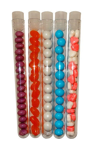 Clear Plastic Test Tubes with Stopper and more Partyware at The Professors Online Lolly Shop. (Image Number :10798)
