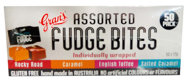 Gran s Fudge Bites - Assorted, by Grans,  and more Confectionery at The Professors Online Lolly Shop. (Image Number :11761)