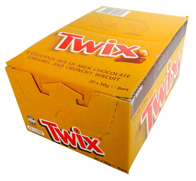 Twix, by Nestle,  and more Confectionery at The Professors Online Lolly Shop. (Image Number :13298)
