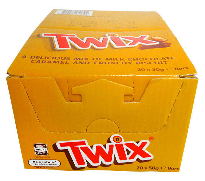Twix, by Nestle,  and more Confectionery at The Professors Online Lolly Shop. (Image Number :13299)