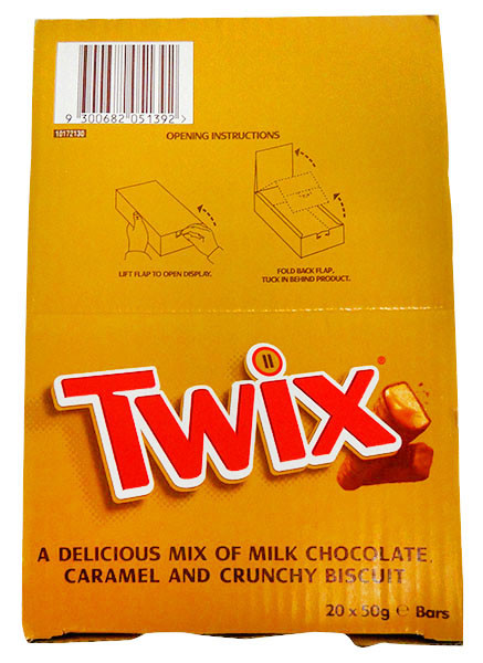 Twix, by Nestle,  and more Confectionery at The Professors Online Lolly Shop. (Image Number :13300)