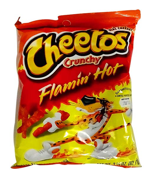 Cheetos Crunchy - Flamin Hot and more Snack Foods at The Professors Online Lolly Shop. (Image Number :10850)