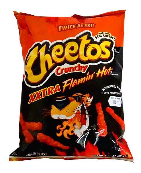 Cheetos Crunchy - Xxtra Flamin Hot and more Snack Foods at The Professors Online Lolly Shop. (Image Number :10848)