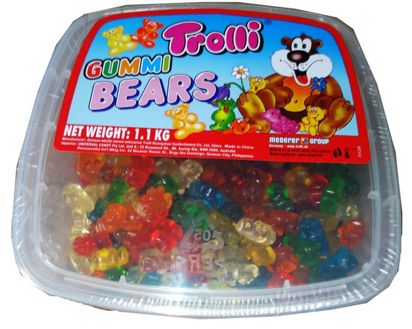 Trolli Gummi Bear Tub, by Trolli,  and more Confectionery at The Professors Online Lolly Shop. (Image Number :5438)