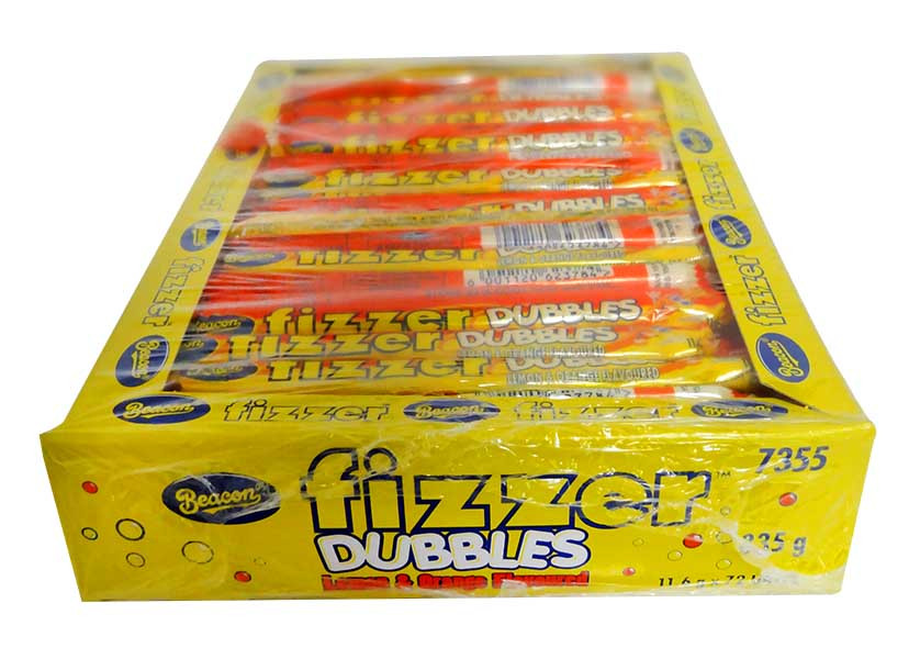 Beacon Fizzers Doubles - Lemon and Orange, by Beacon,  and more Confectionery at The Professors Online Lolly Shop. (Image Number :11310)