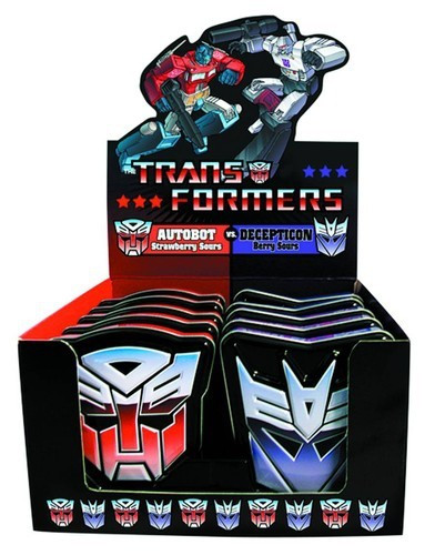 Transformsers Autobot v s Decepticon and more Confectionery at The Professors Online Lolly Shop. (Image Number :10913)