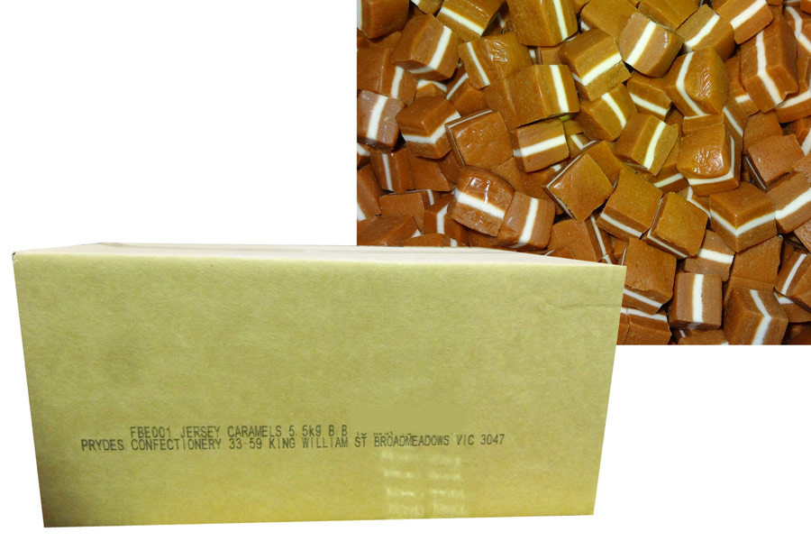 SPECIAL - Prydes - Jersey Caramels - BB 13/3/18, by Pryde Confectionery,  and more Confectionery at The Professors Online Lolly Shop. (Image Number :10928)