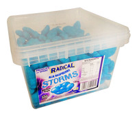 Radical Storms - Blue Raspberry and more Confectionery at The Professors Online Lolly Shop. (Image Number :11593)