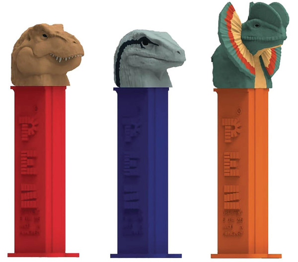 Pez Candy Dispensers - jurassic World, by Pez,  and more Confectionery at The Professors Online Lolly Shop. (Image Number :11084)