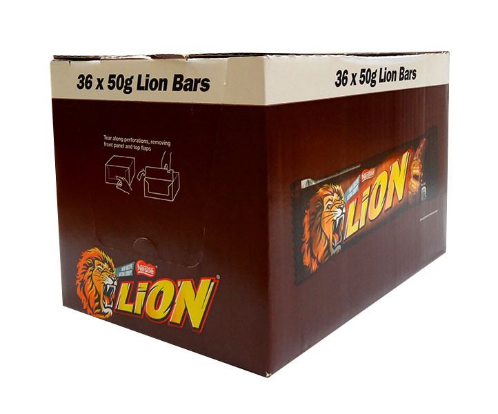 Lion Bars, by Nestle,  and more Confectionery at The Professors Online Lolly Shop. (Image Number :10942)