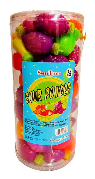 Sweet Treats Sour Powder Fruit, by Brisbane Bulk Supplies,  and more Confectionery at The Professors Online Lolly Shop. (Image Number :11264)