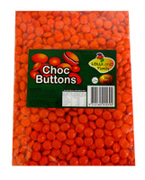 Lolliland Choc Buttons - Orange, by Lolliland,  and more Confectionery at The Professors Online Lolly Shop. (Image Number :11337)