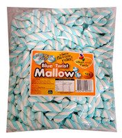 Lolliland Marshmallow Twists - Blue and White (1kg Bag )