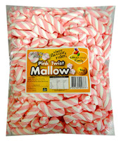 Lolliland Marshmallow Twists - Pink and White (1kg Bag)